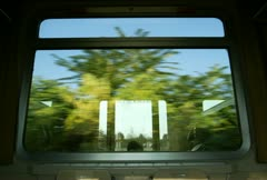 Time lapse movie of the view from a train window as it races through the Stock Footage