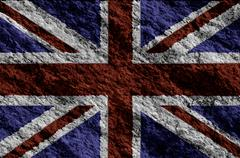 United kingdom flag  grunge flag Stock Photos