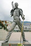 montreux, switzerland april 23, 2012: freddy mercury statue in montreux, swit - stock photo