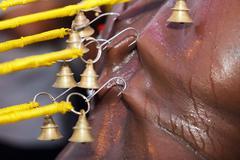 Indian devotee piercing Stock Photos