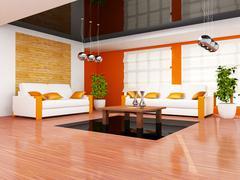 Stock Illustration of modern living room interior