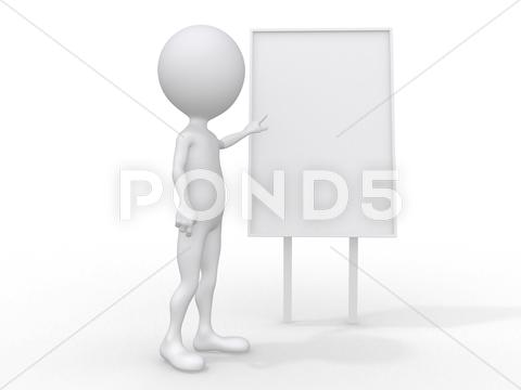 Stock Illustration of 3d single adult business man in the meeting