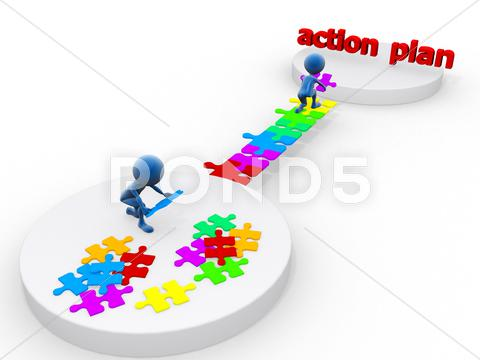 Stock Illustration of action plan