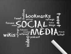 Social media - stock illustration