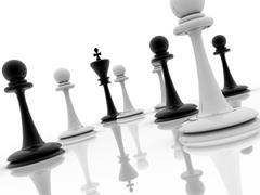 Chess piece advising to strategic behavior Stock Illustration
