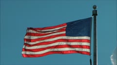 US flag waves - backlight by Sun Stock Footage