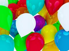 Many colored balloons forming a bright background wallpaper image Stock Illustration