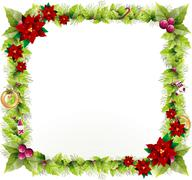 Christmas background design to add any text in the middle. Stock Illustration
