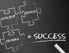Stock Illustration of Success puzzle