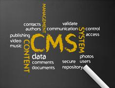 Content management system - stock illustration