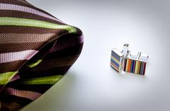 cuff links - stock photo