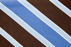 closeup view of a striped neck tie - stock photo