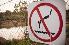 no swimming - stock photo