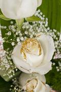 Stock Photo of white roses bouquet