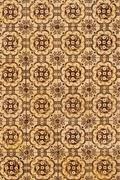 portuguese glazed tiles 175 - stock photo
