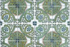 portuguese glazed tiles 184 - stock photo