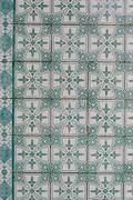 portuguese glazed tiles 188 - stock photo