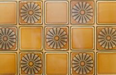 portuguese glazed tiles 200 - stock photo
