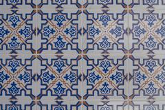 portuguese glazed tiles 210 - stock photo