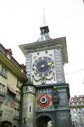 Famous zytglogge zodiacal clock in bern, switzerland Stock Photos