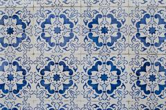 portuguese glazed tiles 212 - stock photo
