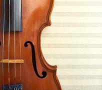 Violin macro Stock Photos