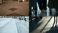 People walking composition Stock Footage