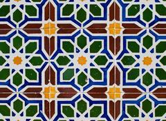 portuguese glazed tiles 220 - stock photo
