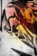 Sepia vintage, graffiti over old dirty wall, urban hip hop background gray te Stock Illustration