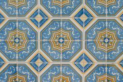 portuguese glazed tiles 229 - stock photo