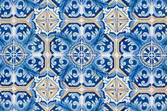 portuguese glazed tiles 224 - stock photo