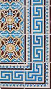 portuguese glazed tiles 216 - stock photo