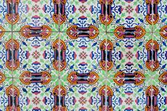 portuguese glazed tiles 234 - stock photo