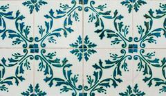 portuguese glazed tiles 228 - stock photo