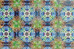Stock Photo of portuguese glazed tiles 240