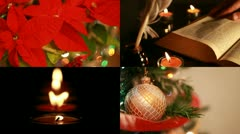 Christmas decoration composition Stock Footage