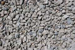 close up of rough gravel - stock photo