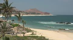 Los Cabos Mexico Beach shoreline Stock Footage