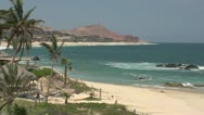 Stock Video Footage of Los Cabos Mexico Beach shoreline