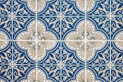 Traditional portuguese glazed tiles Stock Photos