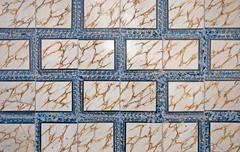 ornamental old tiles - stock photo