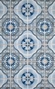 portuguese glazed tiles - stock photo