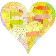 A valentine's day heart Stock Illustration