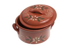 clay pot for cooking - stock photo