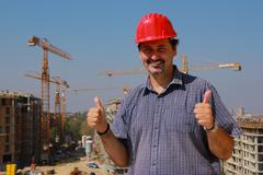 Stock Photo of Successful construction worker