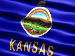 Stock Photo of flag of the state of kansas