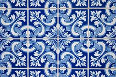 ornamental old typical tiles - stock photo