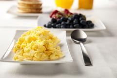 Scrambled eggs Stock Photos