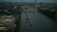 London - The River Thames 01 Stock Footage