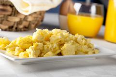 fresh scrambled eggs - stock photo